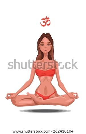 brunette woman doing yoga