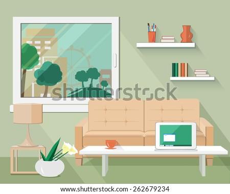 flat modern design vector