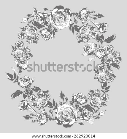 vector illustration of   wreath