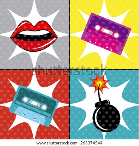comic pop art colorful design