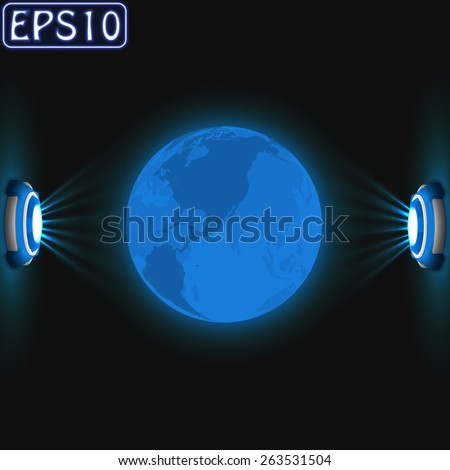 earth hologram with dual