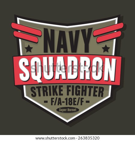 navy military typography  t