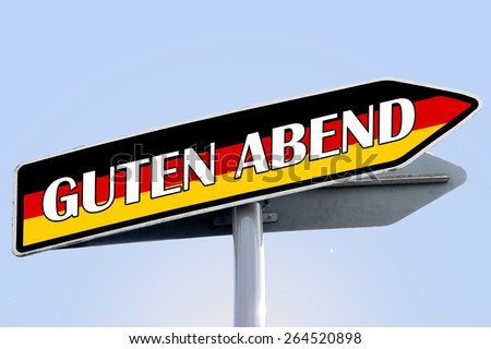 good evening in german word on