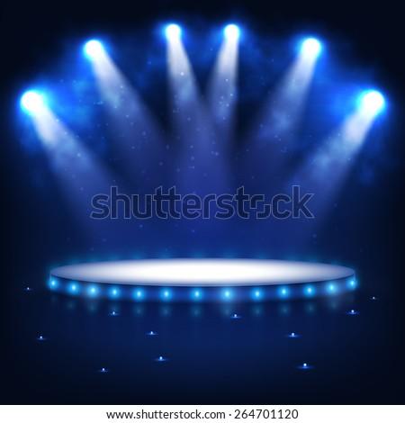 illuminated podium for