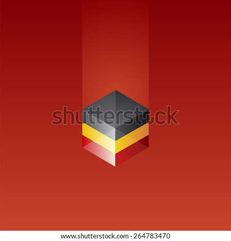 belgium cube flag red