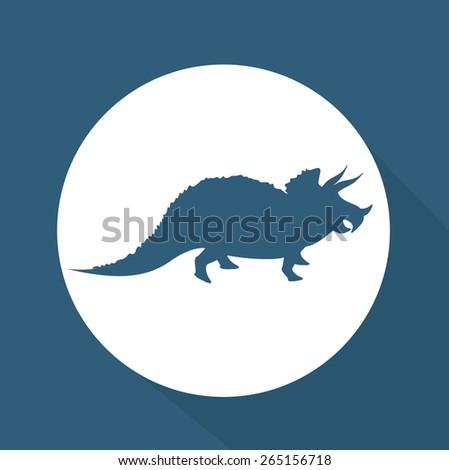 prehistoric design over blue