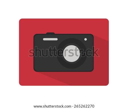 camera vector flat icon
