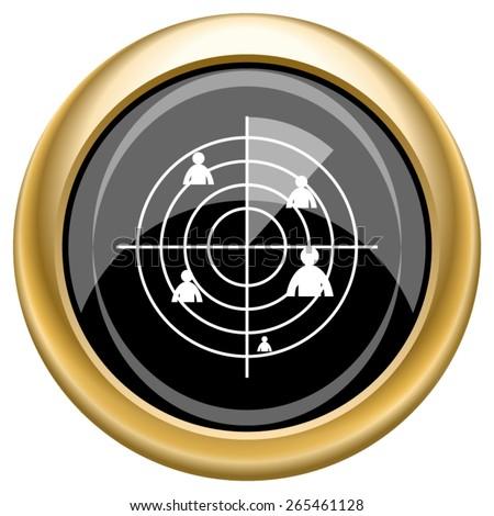 radar icon internet button on