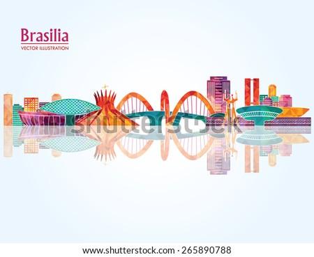 brasilia detailed skyline