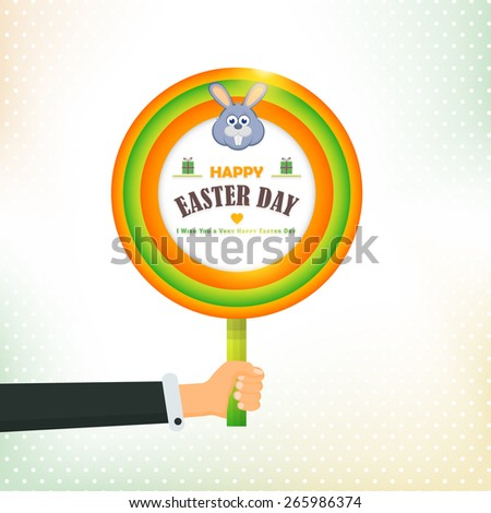 easter day concept circle
