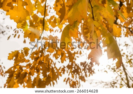 vector image of a golden warm