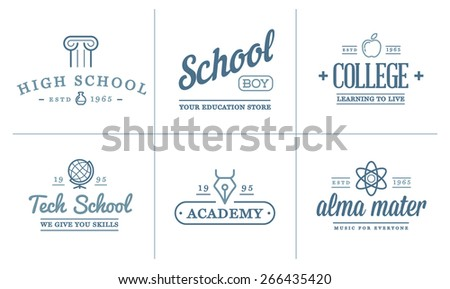 set of vector education icons