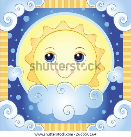 the sun vector illustration of