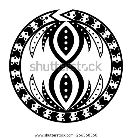 tattoo round made in the style