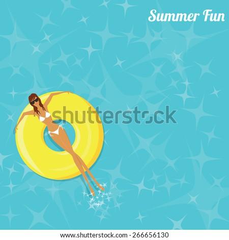 summer fun   woman sunbathing
