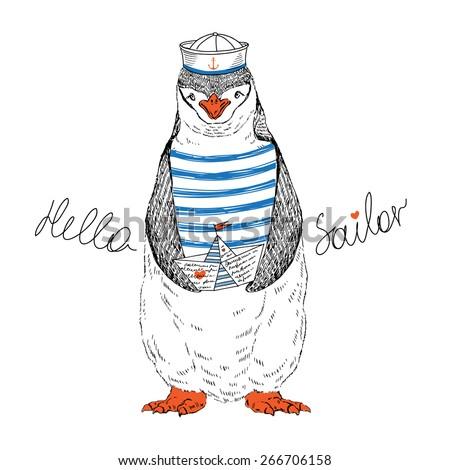 nautical animal illustration