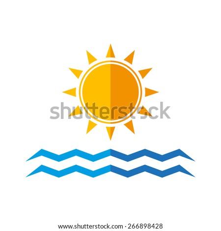 travel logo template flat