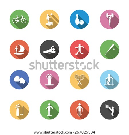 set of isolated sport icons in