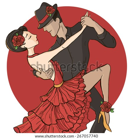 vector illustration a couple