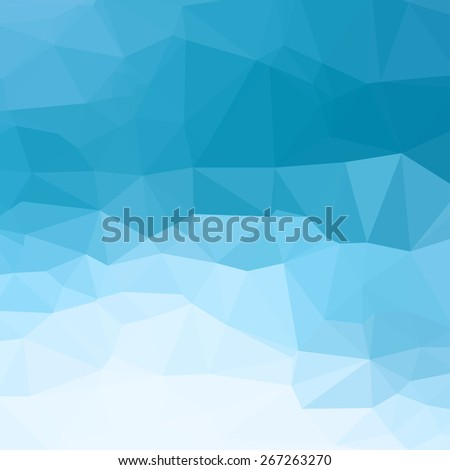 blue abstract square geometric