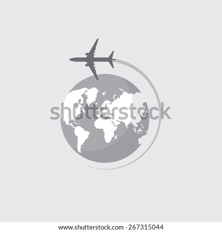 globe with airplane