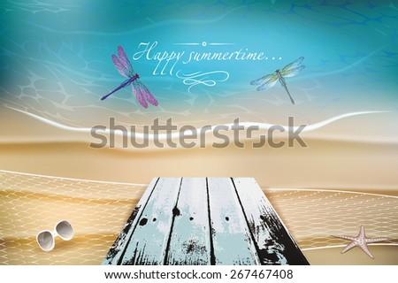 marine summer composition