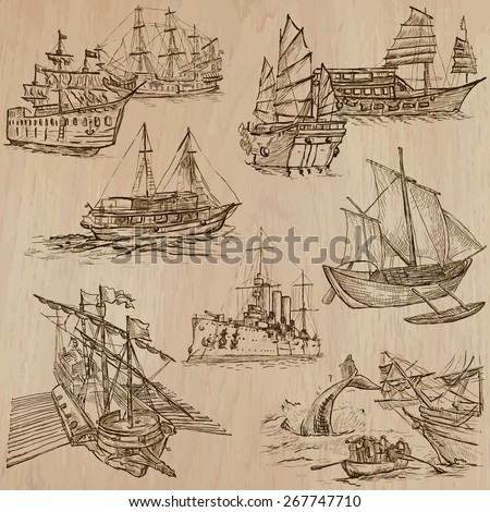 boats and ships around the