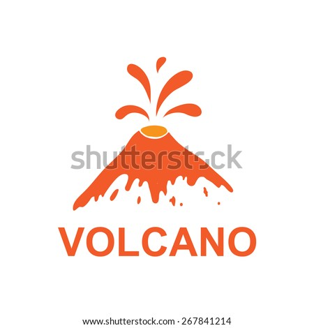 eruption of a volcano  vector