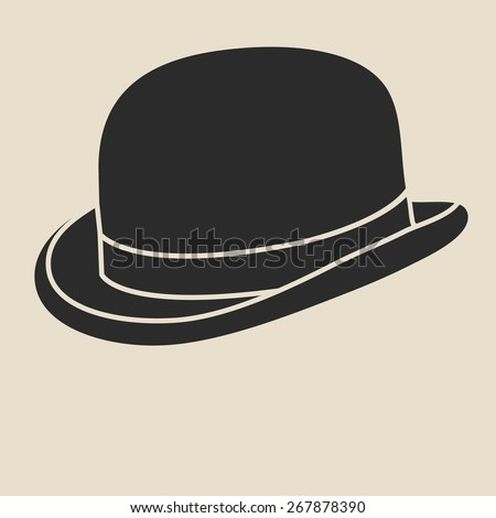 vintage man's bowler hat label