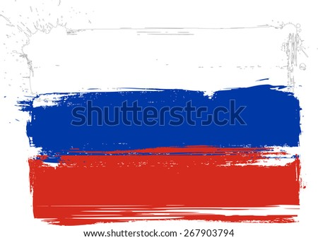 russian grunge tricolour flag
