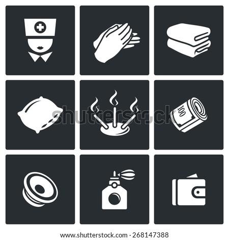 spa icons  spa  medicine