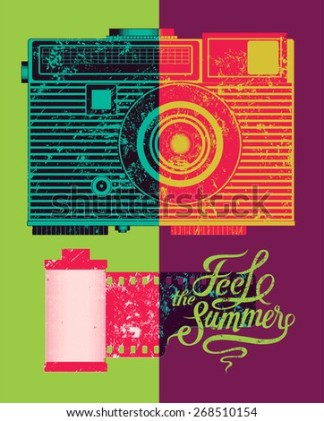 feel the summer typographic