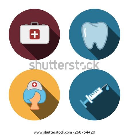 4 flat medicine icons