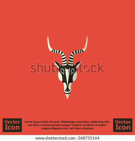 flat style icon with tribal