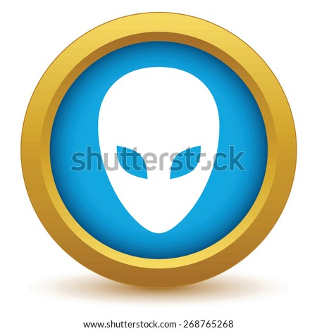 gold extraterrestrial icon on a