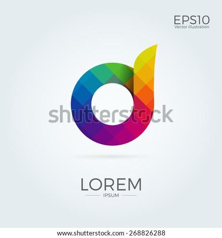 d letter logo icon mosaic
