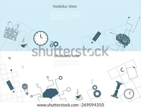 crossword and sudoku background