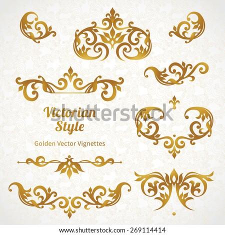 vector set of vintage vignettes