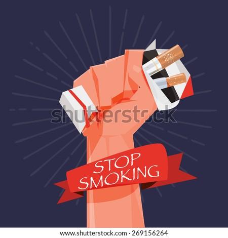 cigarette box in fist hand