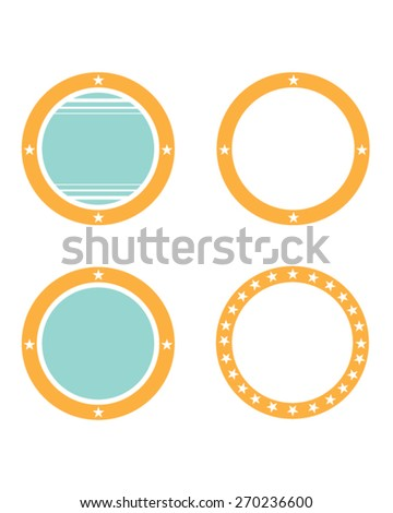 vector circle and star frame