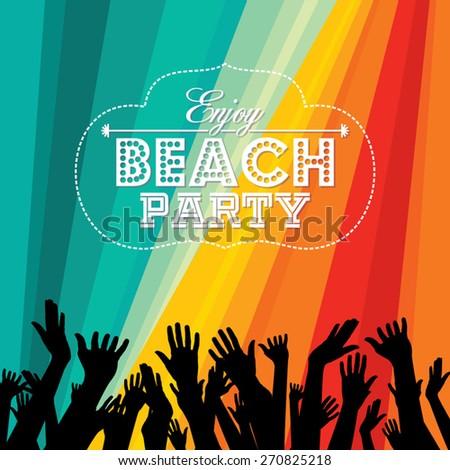 summer beach party vector flyer