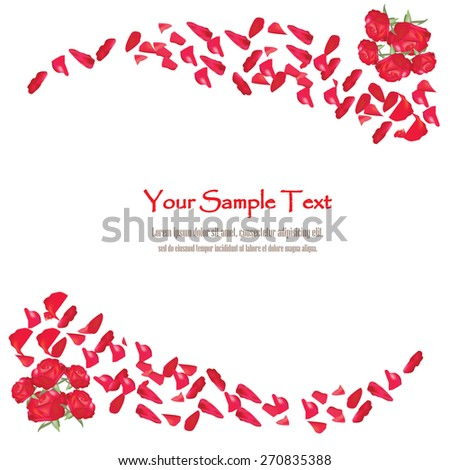 beautiful red rose petals