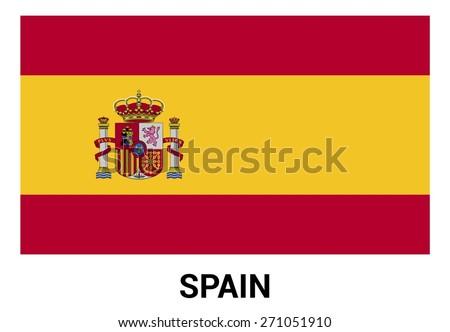 spain flag isolated vector in