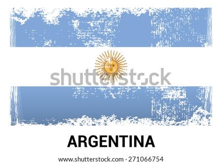 argentina grunge flag isolated