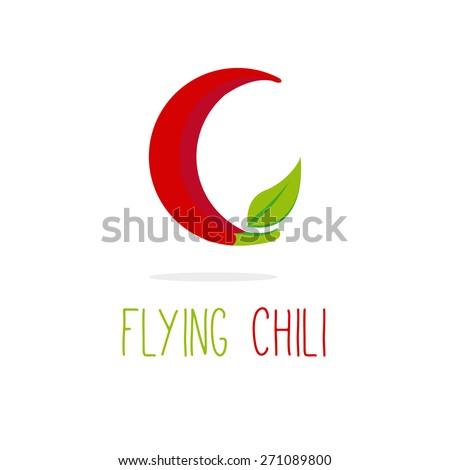 vector creative c letter flying