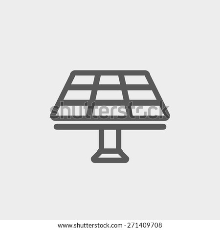 solar panel icon thin line for
