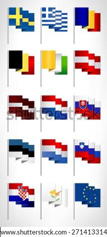 european union flags collection