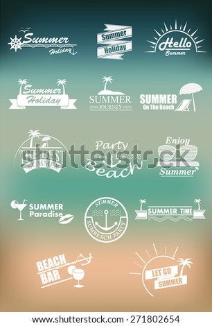retro elements of summer