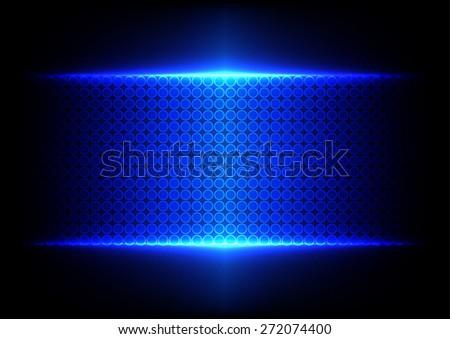 abstract blue dot technology