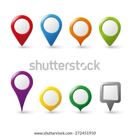 vector pin map icon mark symbol